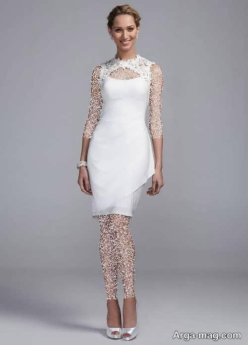 مدل پیراهن عروس ساده و کوتاه