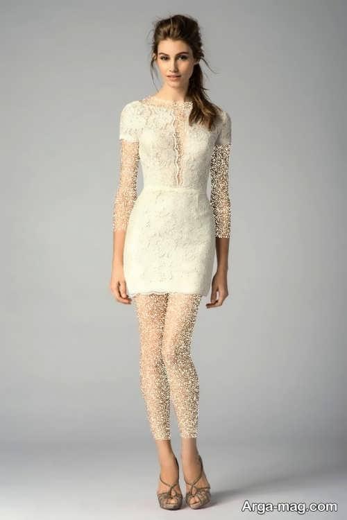 مدل پیراهن عروس خیلی کوتاه