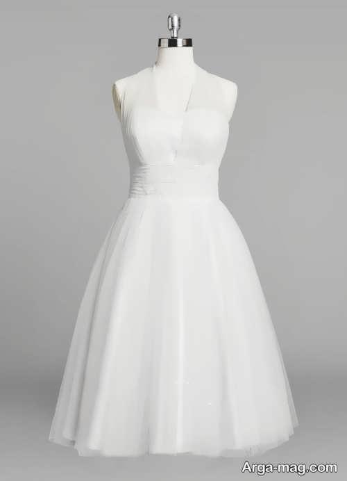 مدل لباس عروس کوتاه و ساده