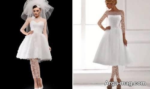 مدل پیراهن عروس زیبا و کوتاه