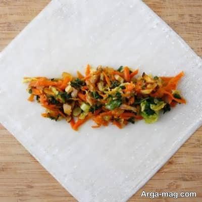 دستور تهیه اسپرینگ رول سبزیجات