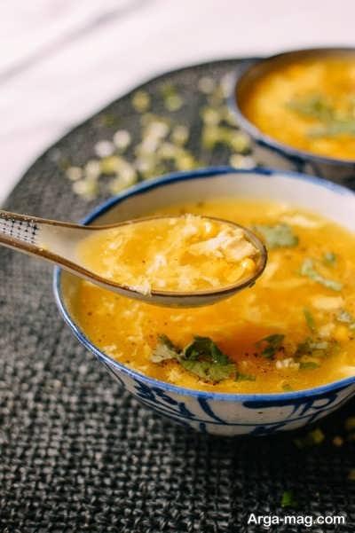 سوپ مرغ و ذرت