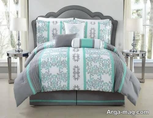 مدل روکش طرح دار تخت خواب