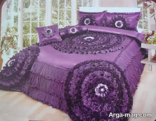 روکش تخت خواب بنفش