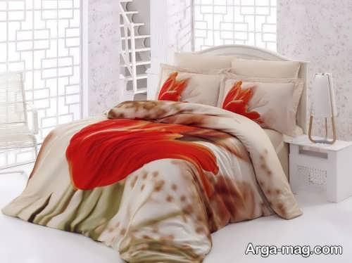 روکش طرح دار تخت خواب