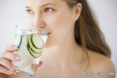طرز تهیه آب طعم دار با خیار