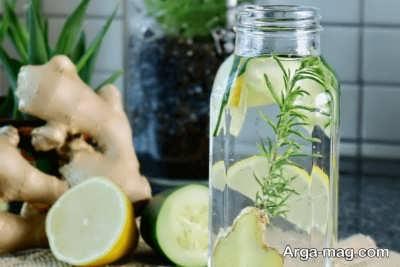 آب طعم دار زنجبیل و لیمو