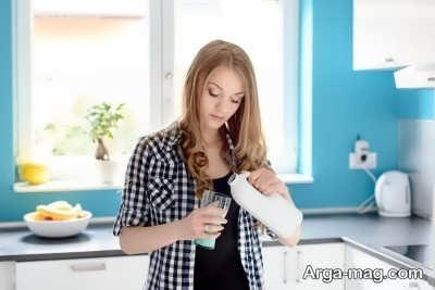 بروز حساسیت پس از خوردن شیر