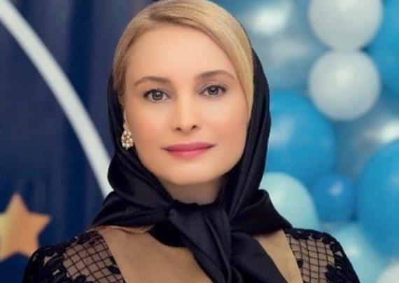 مریم کاویانی در ختم همسر رامین مهمان پرست