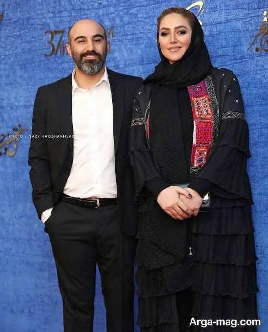 ژست خاص محسن تنابنده و همسرش
