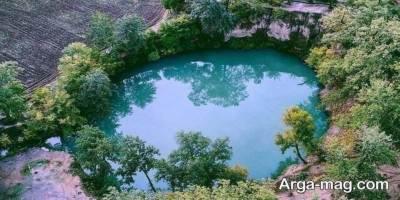 چشمه فیروزه ای گل رامیان