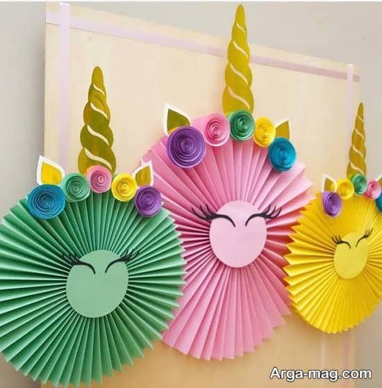 تزئین تولد با کاغذ کشی
