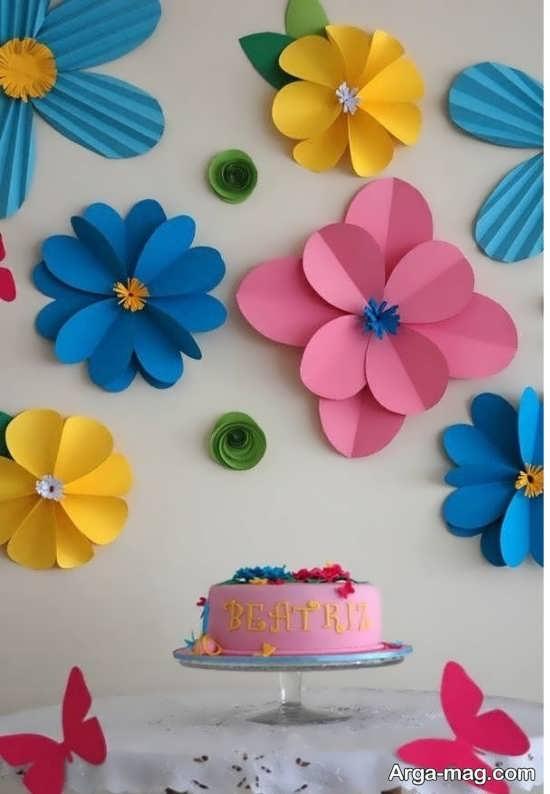 تزیین زیبای تولد با کاغذ رنگی