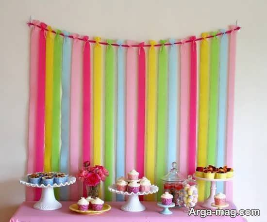 تزیین زیبای تولد با کاغذهای رنگی