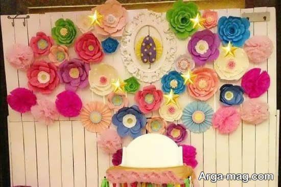 تزیین جشن تولد با کاغذ رنگی