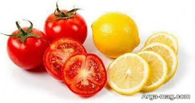 گوجه فرنگی و لیمو