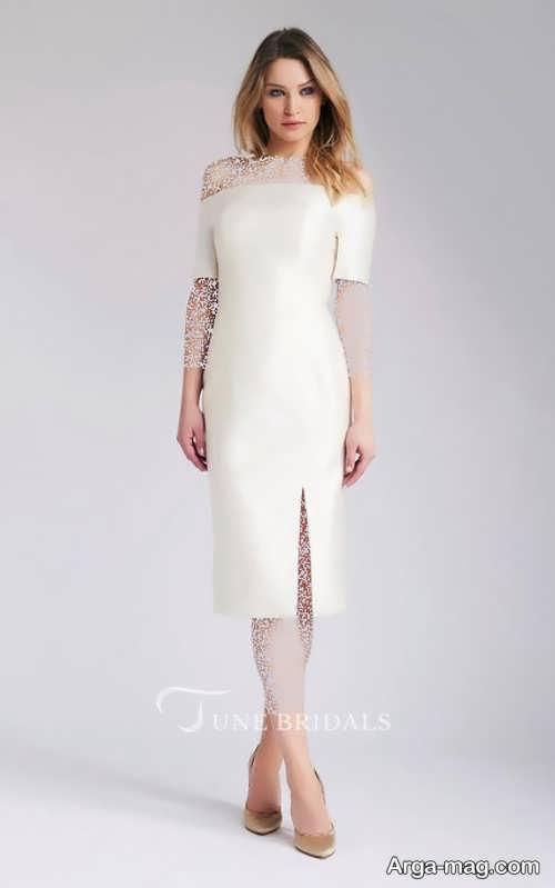 مدل پیراهن عروس کوتاه