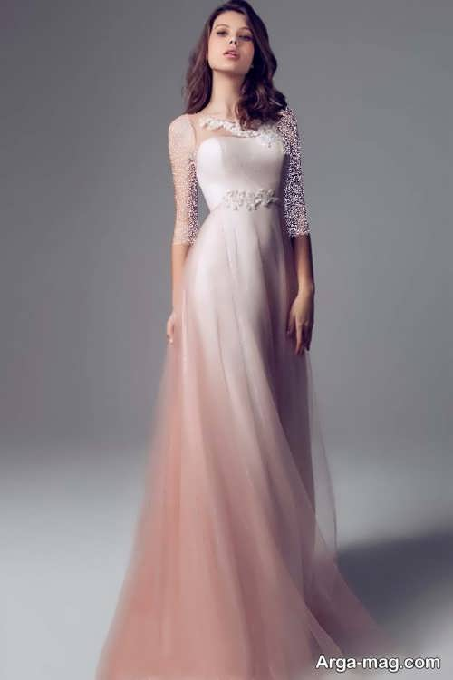 مدل لباس عروس فرمالیته رنگی