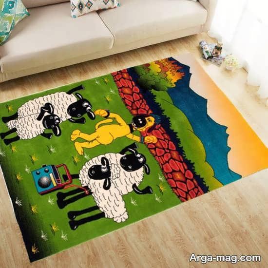 تابلو فرش عروسکی و فانتزی