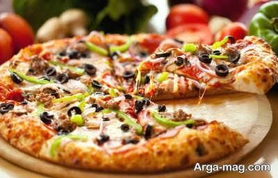 پیتزا مرغ و قارچ