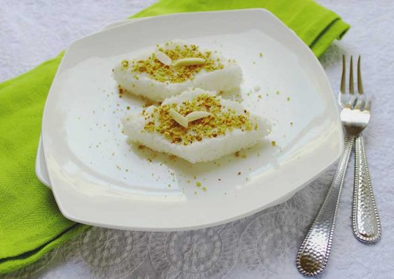 طرز تهیه لوز نارگیلی