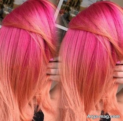 رنگ مو مرجانی زیبا