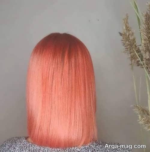 رنگ موی مرجانی روشن
