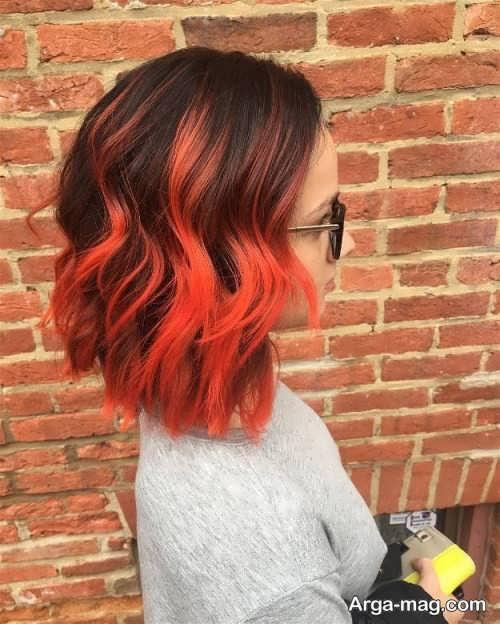 رنگ موی زیبا و شیک مرجانی