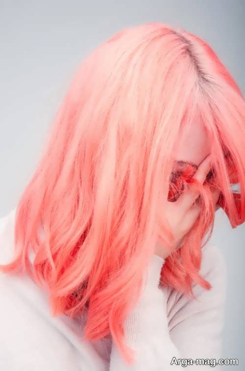 رنگ موی روشن مرجانی