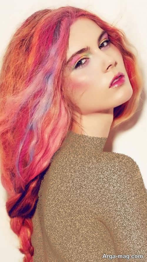 رنگ موی فانتزی مرجانی