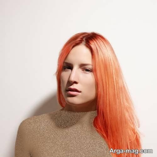 رنگ مو زیبا و جدید مرجانی