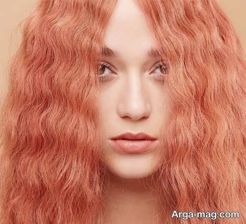 رنگ موی زنانه مرجانی