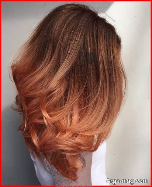 رنگ مو مرجانی با توناژ شکلاتی و مسی