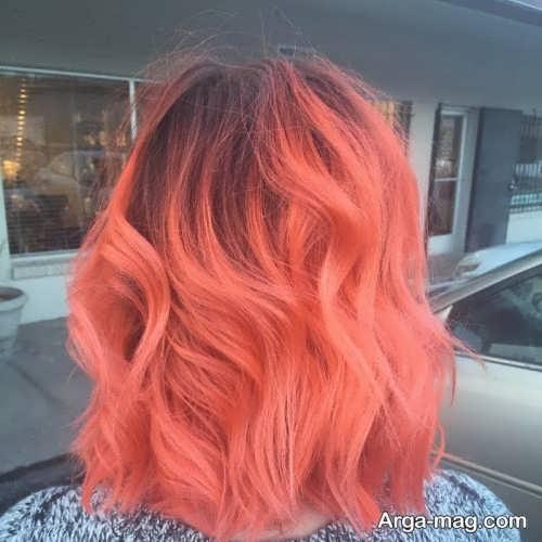 رنگ موی زیبا و جدید مرجانی