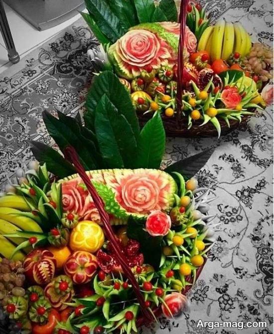 تزیین جذاب و دیدنی سبد میوه