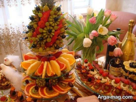 تزیین بسیار زیبای سبد میوه