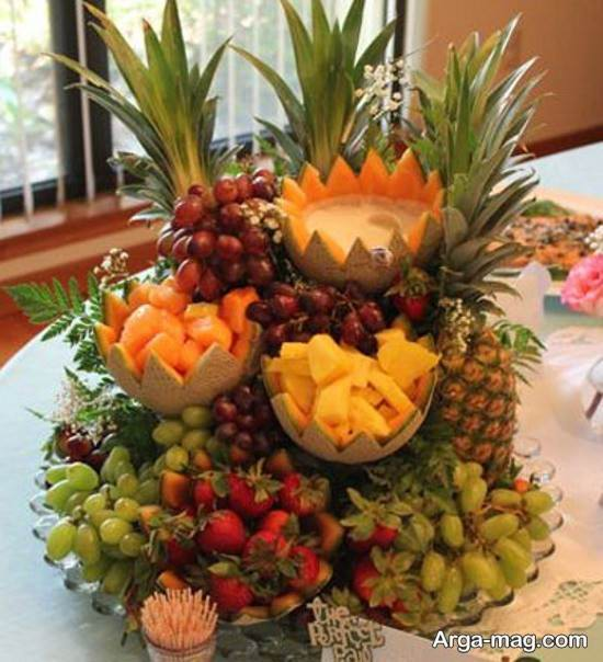 تزیین میوه با روشی خاص و زیبا