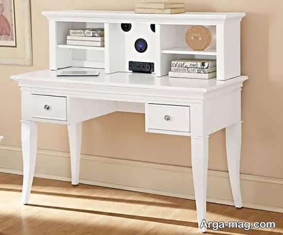 میز تحریر سفید دخترانه