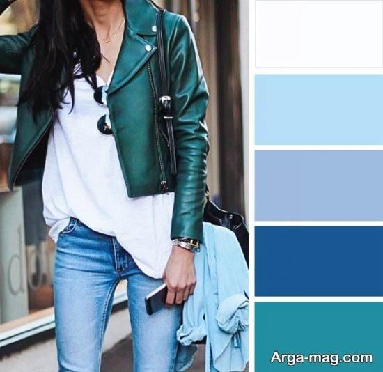 ست رنگ سبز تیره با آبی
