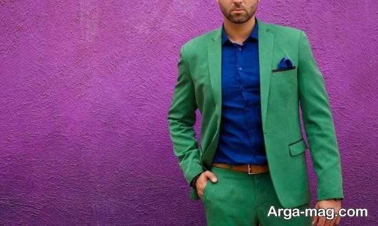 ست رنگ سبز زیبا با آبی