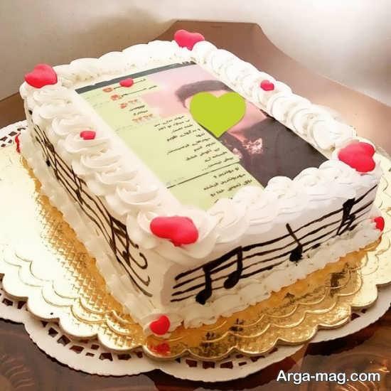 کیک شیک تولد گیتار