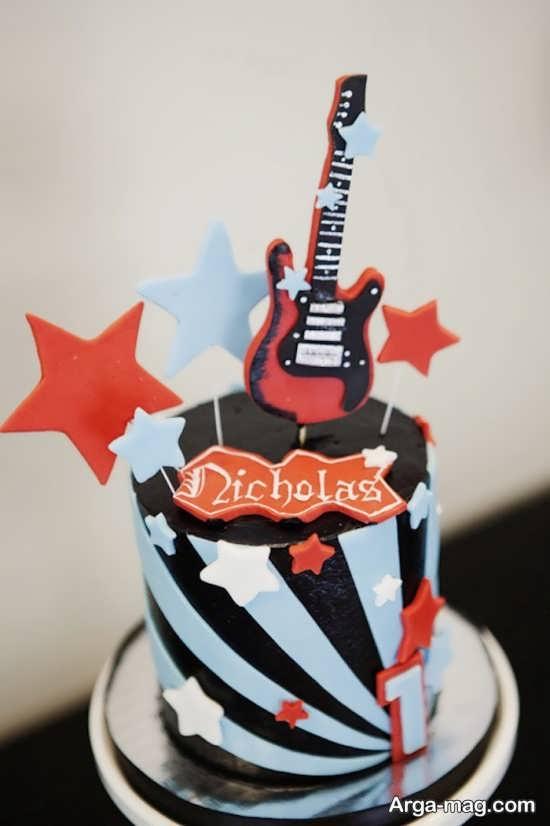 تزیین تولد با تم گیتار