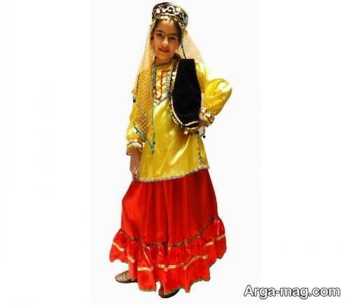 لباس کردی دخترانه