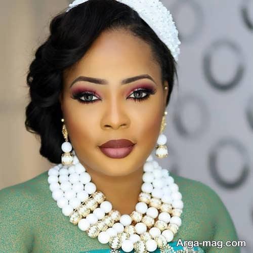 مدل آرایش صورت زیبا برای عروس