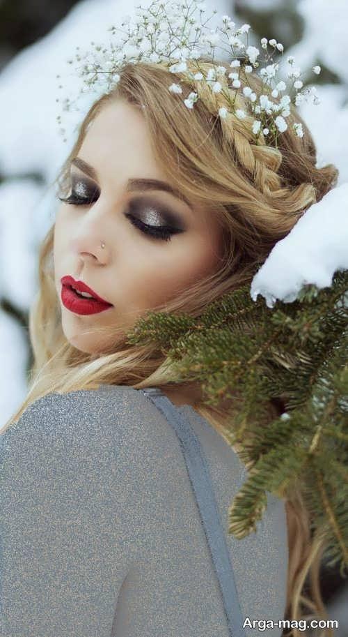 آرایش صورت زیبا و شیک برای عروس
