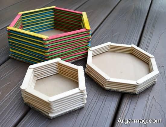 ساخت انواع جعبه با چوب بستنی