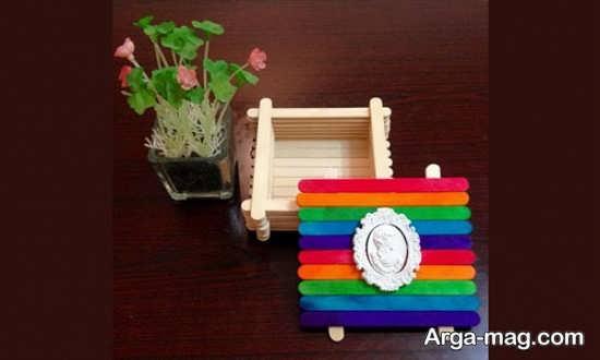 ساخت خلاقانه جعبه با چوب بستنی