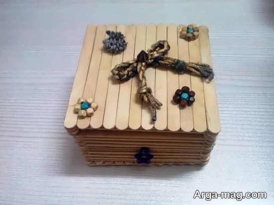 ساخت جعبه با چوب بستنی