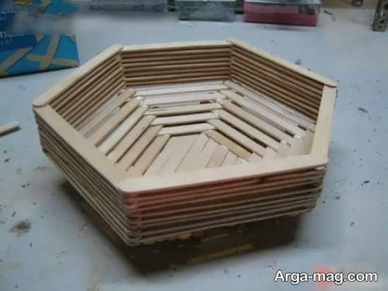 ساخت کاردستی زیبا با چوب بستنی