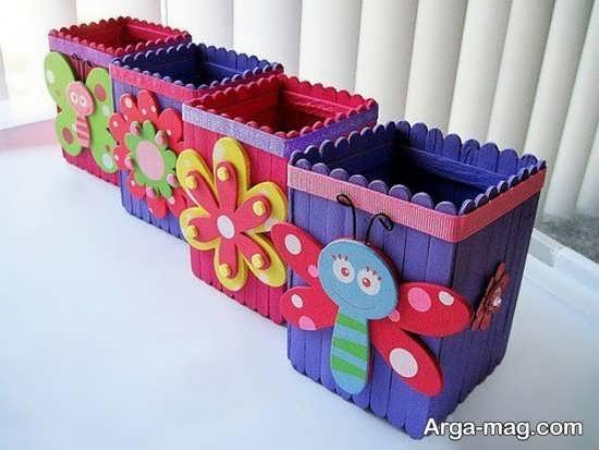 ساخت جعبه های زیبا با چوب بستنی